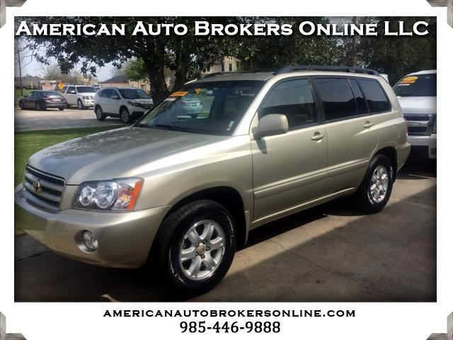 2001 Toyota Highlander Limited 2WD