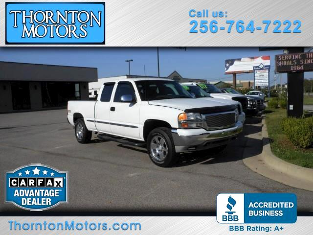 2001 GMC Sierra 1500 SLE Ext. Cab 4-Door Short Bed 4WD