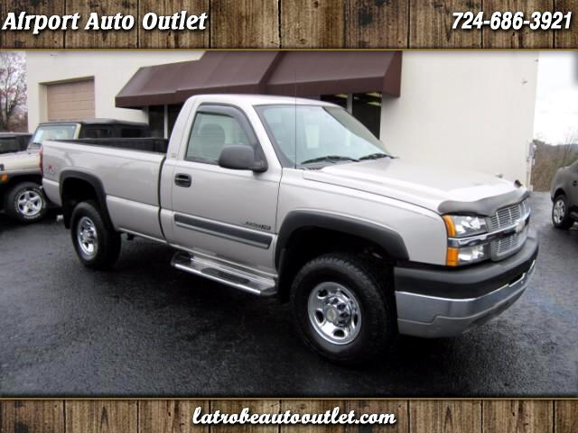 used 2004 chevrolet silverado 2500hd work truck long bed 4wd for sale in latrobe pa 15650. Black Bedroom Furniture Sets. Home Design Ideas
