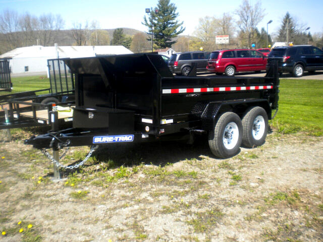 2018 Sure-Trac Low Profile Dump Trailer ST7210D1R-B-100   6X10