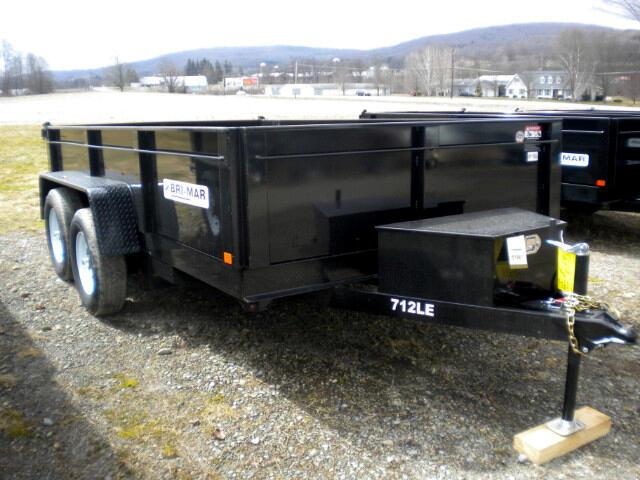 2018 Bri-Mar HD Dump Trailer DT712LP-LE-10-A  7x12 with ramps  10k