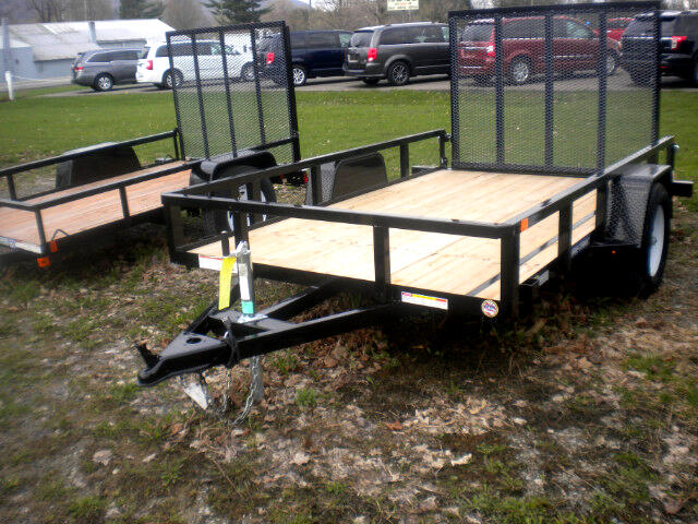 2018 Sure-Trac Tube Top Utility Trailer 6X10 WITH SPRING ASSIST RAMP