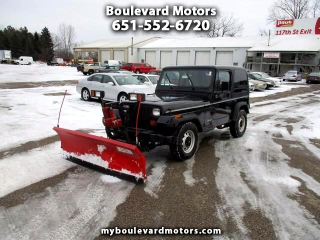 1995 Jeep Wrangler S with plow