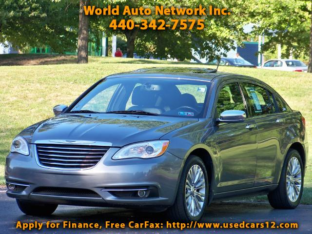 2011 Chrysler 200 Limited. GPS Navigation System. Heated Leather Sea