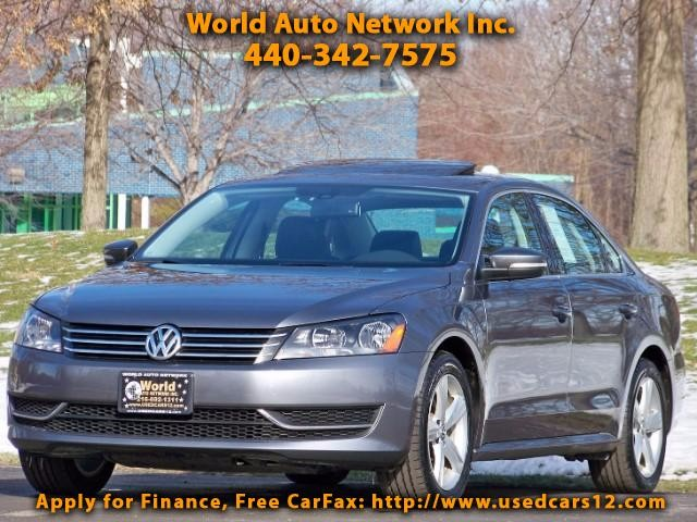 2013 Volkswagen Passat SE. 1-Owner vehicle. Low Mileage 34K. Heated Leath
