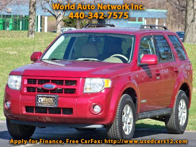 2008 Ford Escape V6. Limited 4WD. Heated Leather Seats Package. Wel
