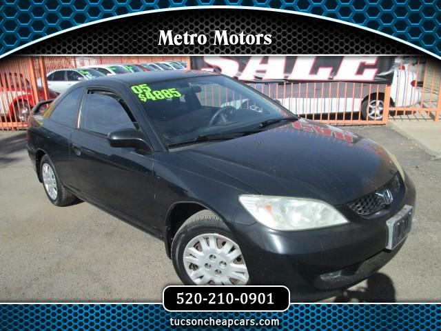2005 Honda Civic LX Coupe AT w/ Front Side Airbags