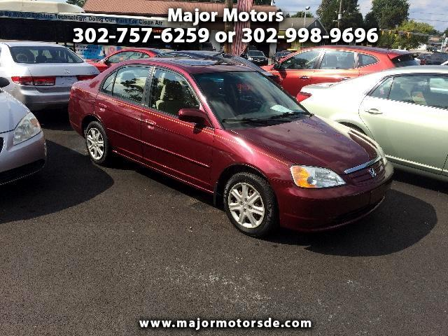 2003 Honda Civic EX Sedan 4-spd AT with Front Side Airbags