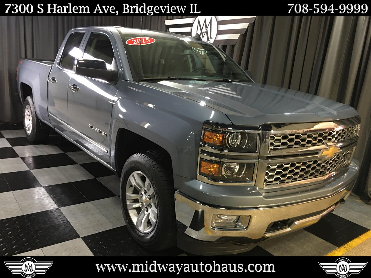 Pre-Owned 2015 Chevrolet Silverado 1500 4WD Double Cab 143.5 in LTZ w/1LZ