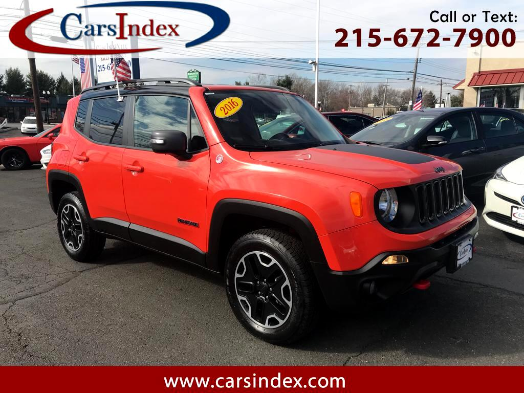 2016 Jeep Renegade Trailhawk 4WD BACK-UP CAMERA,BLACK WHEELS