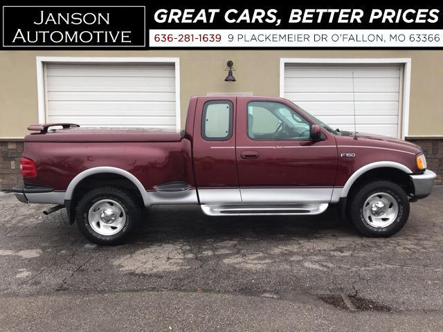 1997 Ford F-150 SUPER CAB LARIAT 4X4 LEATHER ALLOYS STEP SIDE MUST