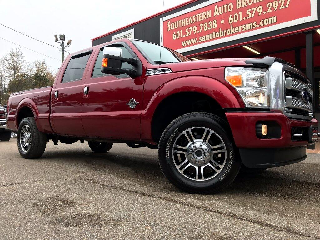 2016 Ford F-250 SD PLATINUM CREW CAB SHORT BED 4WD