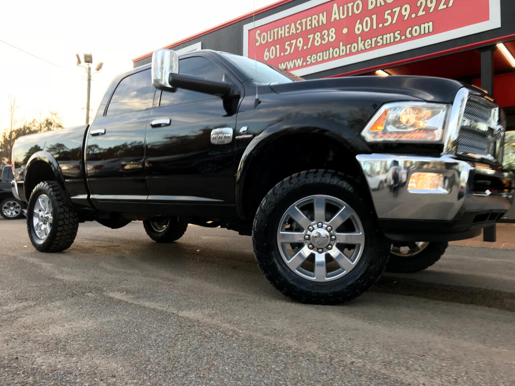 2014 RAM 2500 LONGHORN CREW CAB SHORT BED 4WD LEVELED