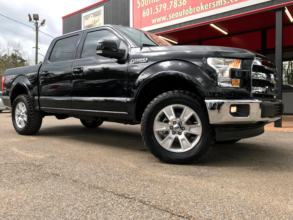 2017 Ford F-150 LARIAT CREW CAB SHORT BED 4WD LEVELED