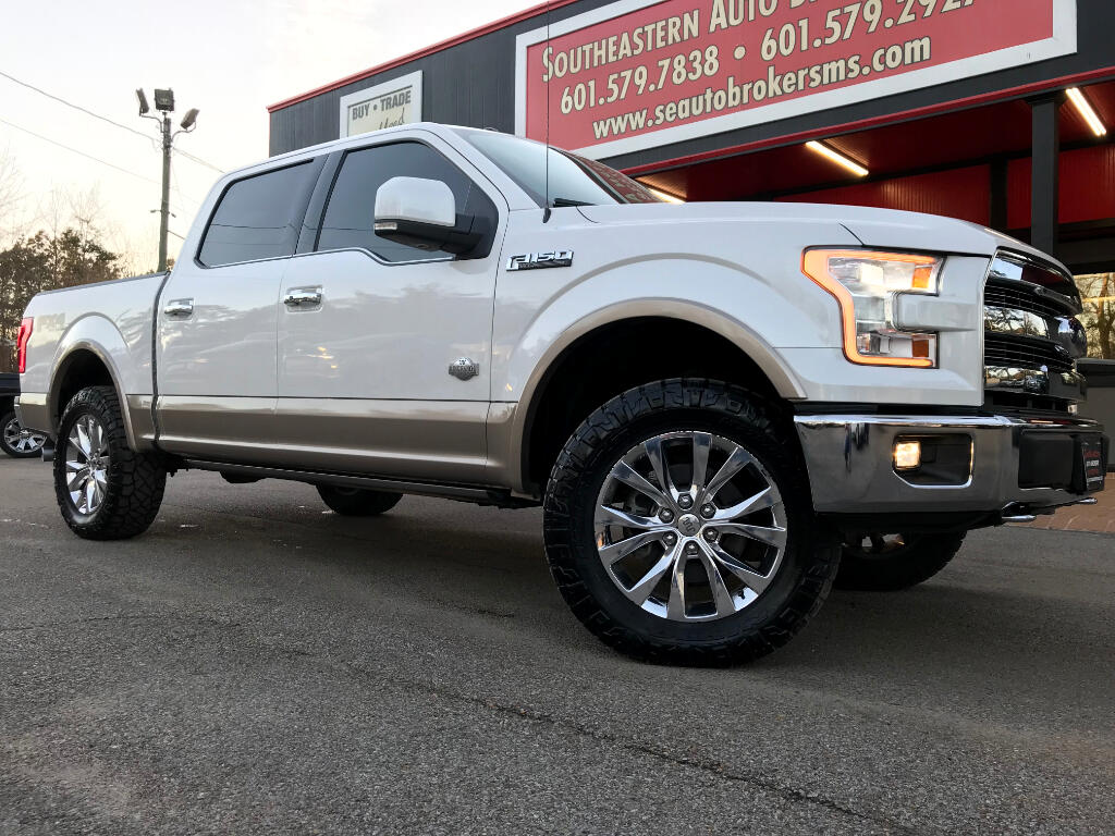 2015 Ford F-150 KING RANCH CREW CAB SHORT BED 4WD LEVELED
