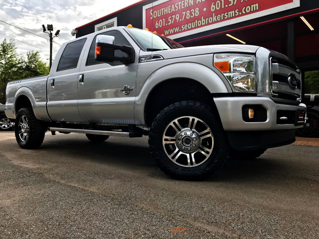 2014 Ford F-350 SD PLATINUM CREW CAB SHORT BED 4WD LEVELED