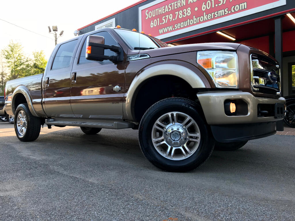 2012 Ford F-250 SD KING RANCH CREW CAB SHORT BED 4WD