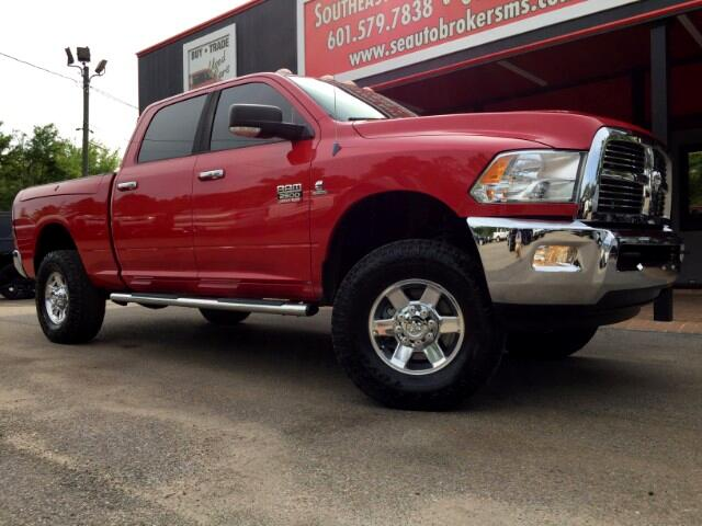 2012 RAM 2500 SLT CREW CAB 4WD LEVELED W/RAM BOXES DPF DELETED