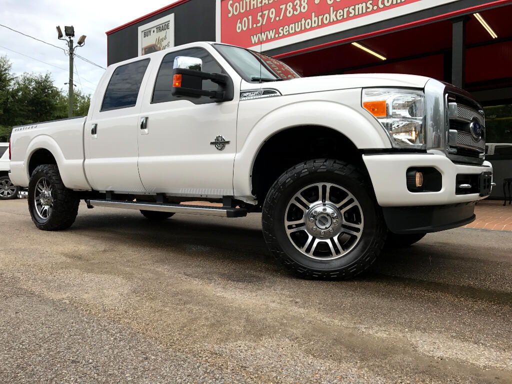 2015 Ford F-250 SD PLATINUM CREW CAB SHORT BED 4WD LEVELED