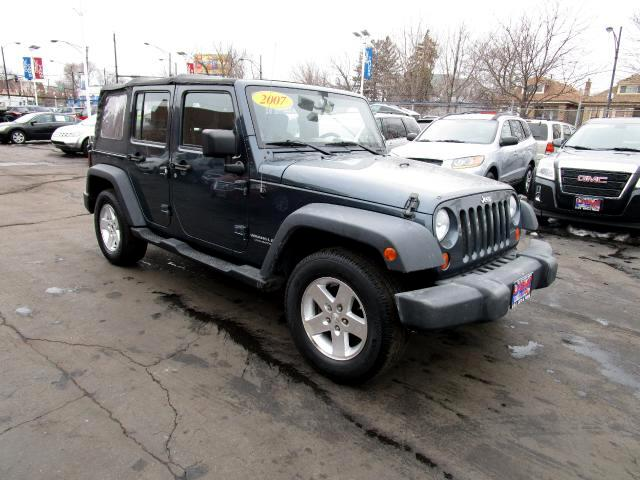 used 2007 jeep wrangler unlimited x 2wd for sale in chicago il 60632 usa auto truck. Black Bedroom Furniture Sets. Home Design Ideas
