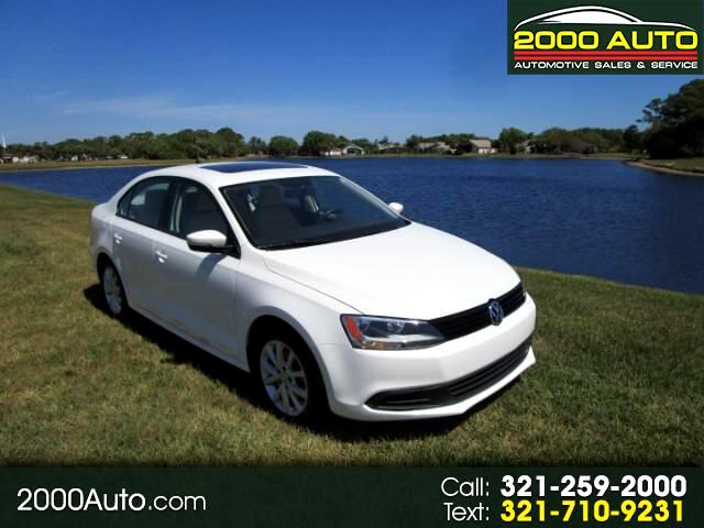 2012 Volkswagen Jetta SE With Convenience & Sunroof