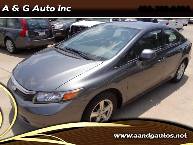 2012 Honda Civic CNG Sedan 5-Speed AT