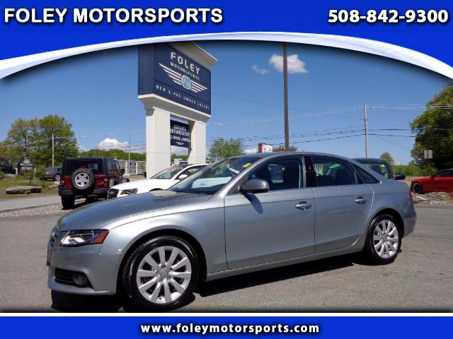 2011 AUDI A4 AWD 20T quattro Premium Plus 4dr Sedan 6M 4x4 Air Conditioning Alarm System Alloy