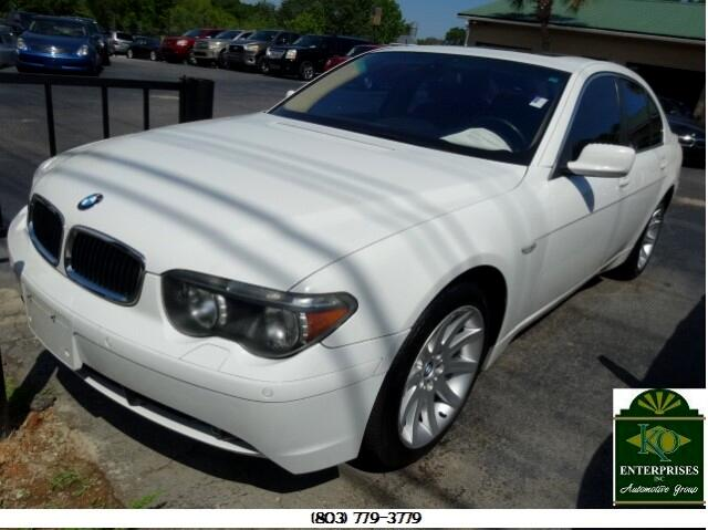 2004 BMW 7-Series You can contact us at 866 370-8267 or visit us at 3820 RIVER DRIVE COLUMBIA SC