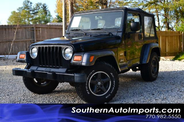 2004 Jeep Wrangler  X TRAIL RATED 4X4  COLUMBIA EDITION  RARE 5 SPEED MANUAL ALLOY WHEELS CD