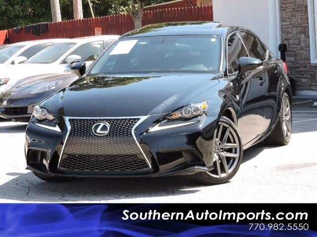 2015 Lexus IS 250 F Sport w/ Cabornet Leather LED BSM Bluetooth