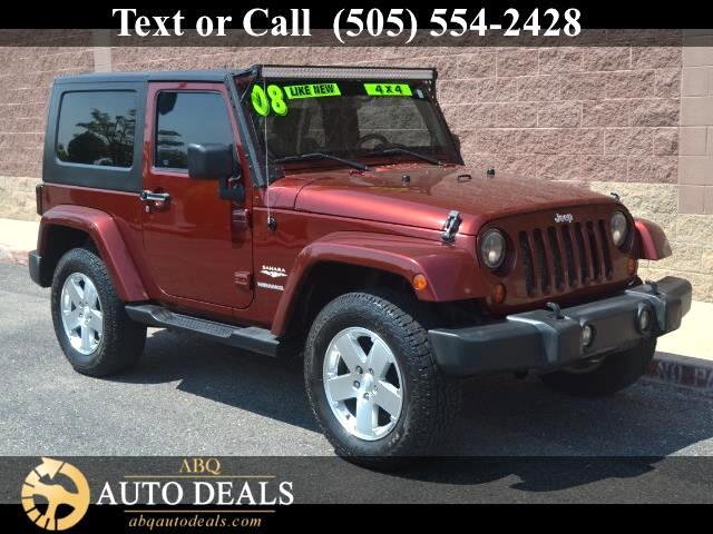 2008 Jeep Wrangler Our Accident Free 2008 Jeep Wrangler Sahara 4WD in Red Rock Crystal is an absolu