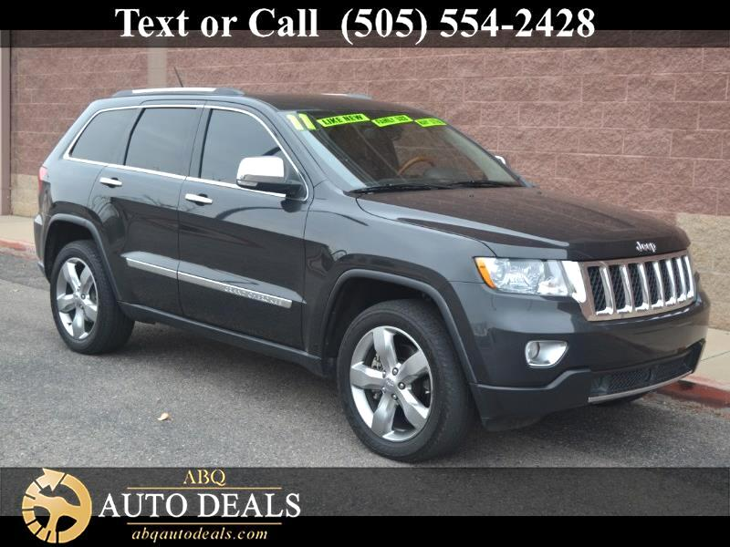 2011 Jeep Grand Cherokee This Accident Free 2011 Jeep Grand Cherokee Overland 4X4 in Dark Charcoal
