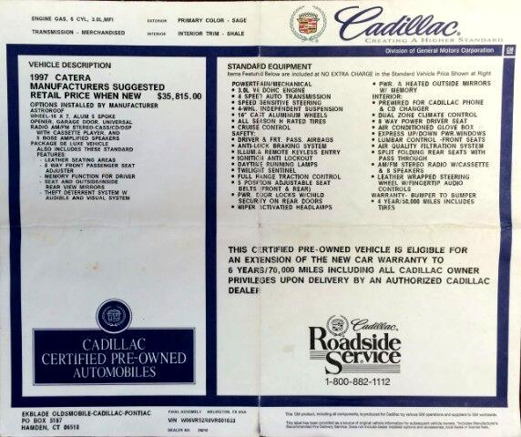 1997 Cadillac Catera Sedan