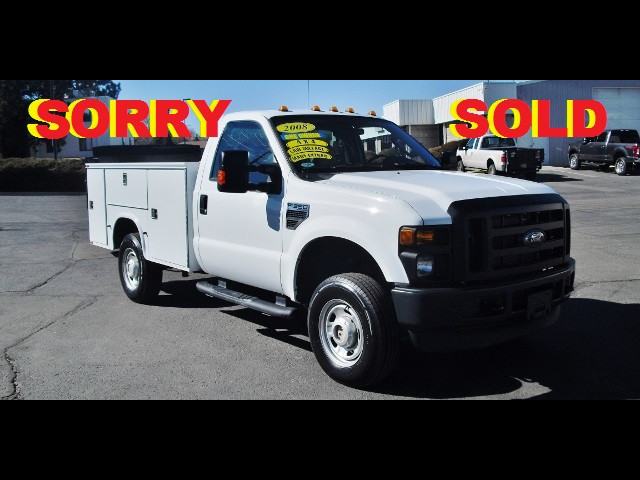 2008 Ford F-350 9 Foot Super Duty Service Utility Body w/Lift Gate