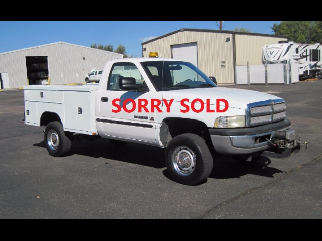 2001 Dodge Ram 2500 8FT Service Utility Truck-4x4-1-Muni Owner- LOW LO