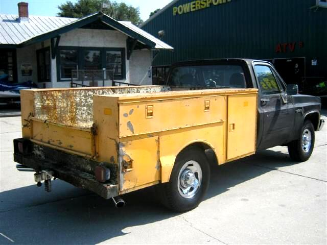1986 Chevrolet C/K 20 Utility Truck dodge 2500 wheels with HD tires camm