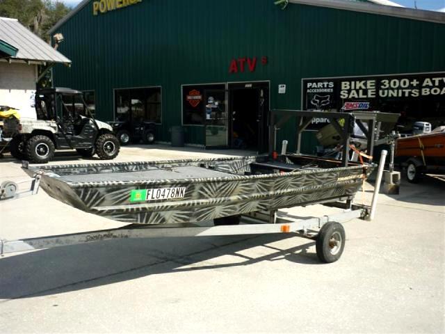 2007 Tracker Jon Boat Nissan outboard poling platform includes trailer