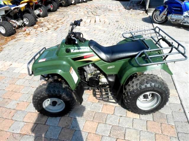 2001 Kawasaki 220 Bayou 4 stroke rear racks nice ATV
