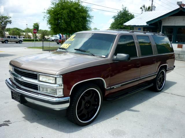 used 1994 chevrolet suburban 24 inch wheels c1500 2wd 3rd row seating for sale in deland fl. Black Bedroom Furniture Sets. Home Design Ideas