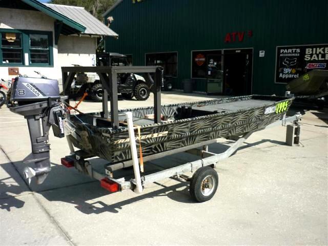 Used 2007 Tracker Jon Boat Nissan outboard poling platform ...