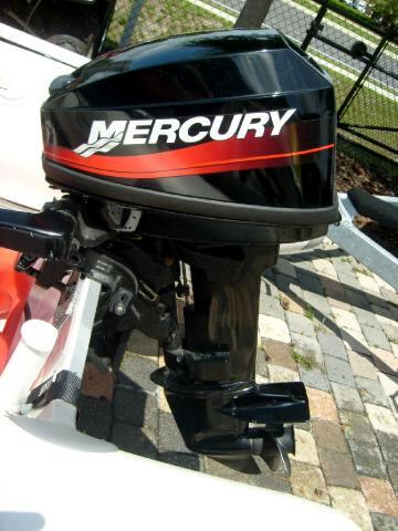 Used 2005 mercury dingy inflatable boat motor and trailer for Mercury outboard motors for sale in florida