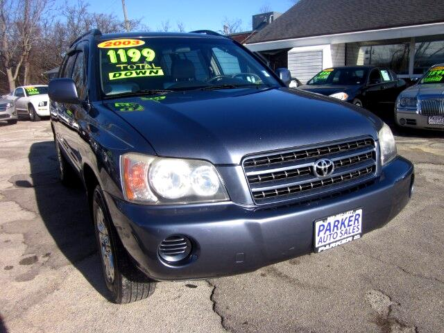 2003 Toyota Highlander THE HOME OF THE 299 TOTAL DOWN PAYMENT Visit Parker Auto Sales online at ww