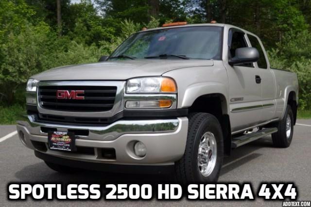 2006 GMC Sierra 2500HD SLE Ext. Cab 4WD
