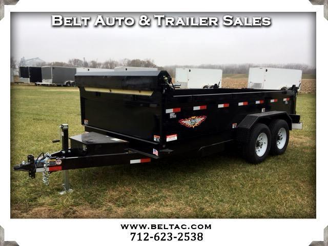 2018 H&H Dump Box 82x14 14k bumper pull