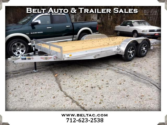 2018 H&H Car Hauler 82x16+2ft dove aluminum