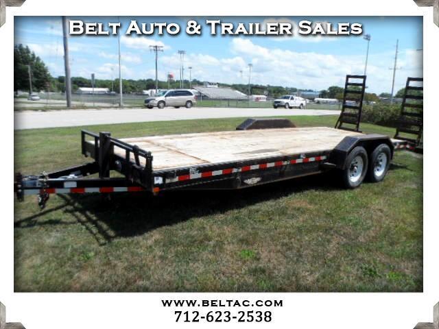 2009 H&H Lowboy Trailer 8.5x22 14k Bobcat trailer