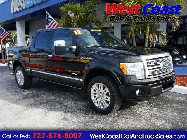 "2012 Ford F-150 4WD SuperCrew 145"" Platinum F150 Truck"