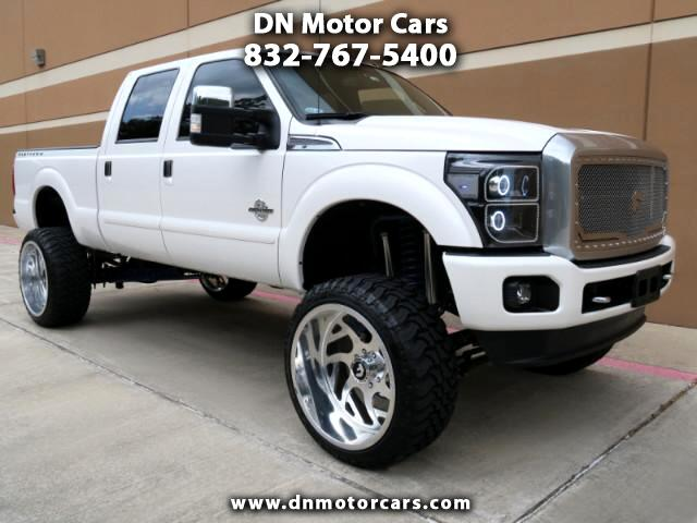 2015 Ford F-250 SD Platinum Crew Cab Short Bed Lifted 4WD