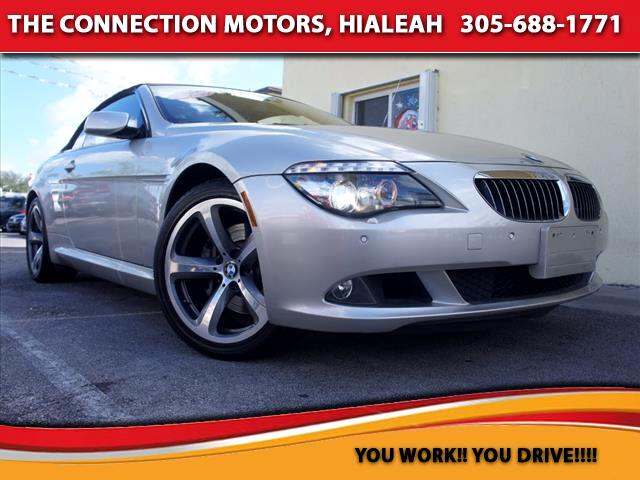 2008 BMW 6 Series BMW 650i Convertible Equipped with 48L V8 DOHC 32V 360 hp  6300 rpm Rare color
