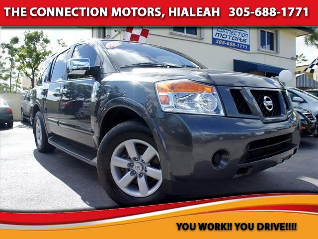 2011 Nissan Armada 2011 Nissan Armada has 56 L V8-cylinder engine that produces 317 hp  5200 rpm